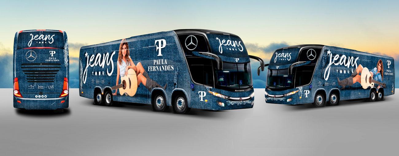 Ônibus de turnê da Paula Fernandes