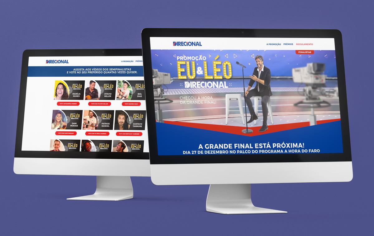 Website Eu & Léo – Promoção Direcional